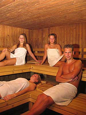 Vochtgehalte sauna